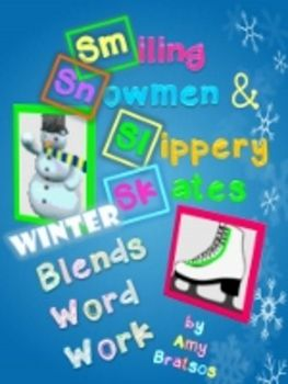Winter Theme Consonant Blend & Digraph Word Work Literacy