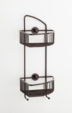 no drilling required Corner Shower Caddy - Bronze - Rustproof - contemporary - shower caddies - los angeles - Innovative Product Sales Inter...