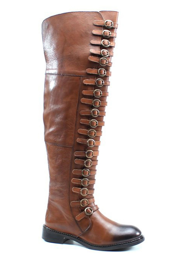 Buckle Detail Boots In Cognac! Need to buy these stat!