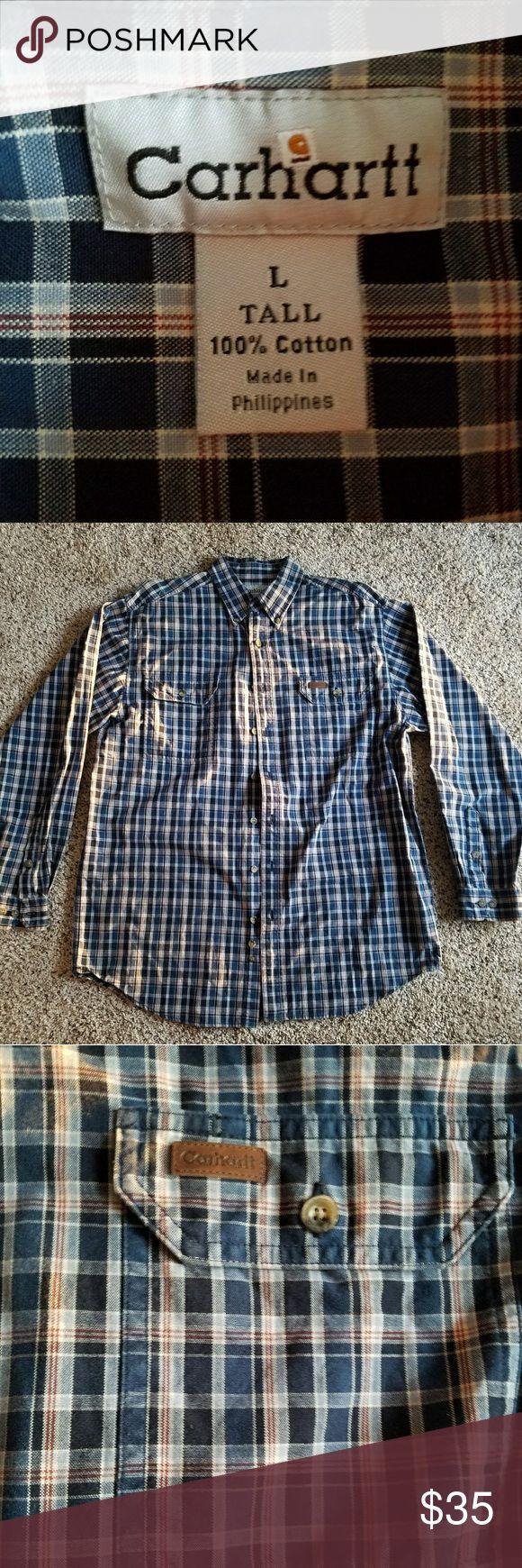 NWOT Carhartt Mens Long Sleeve Work Shirt Size L Never worn, super clean! Beautifully made! Carhartt Shirts Tees - Long Sleeve