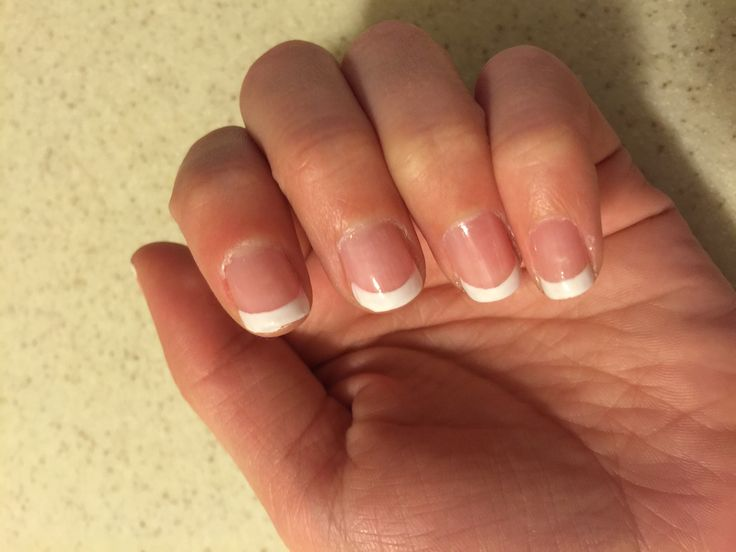 French tips are a great way to have some simple nails but still have them looking fab!
