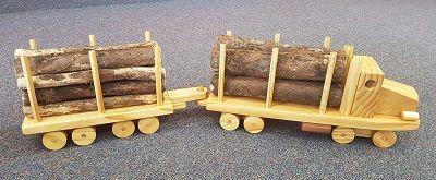 Logging Truck & Trailer Unit - $120.00. Comes with Macrocarpa Logs.
