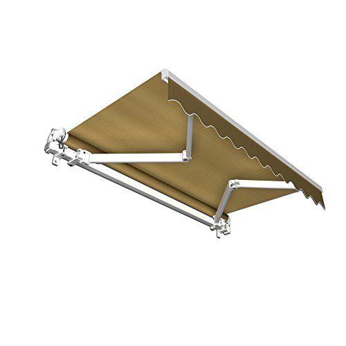 Stabile Alu Markise mit Volant - Gelenkarmmarkise / 295 x 250 cm/ Stoff braun (2,95 x 2,50 m) Jarolift http://www.amazon.de/dp/B008AS8Q00/ref=cm_sw_r_pi_dp_NZIaxb19QEDBE