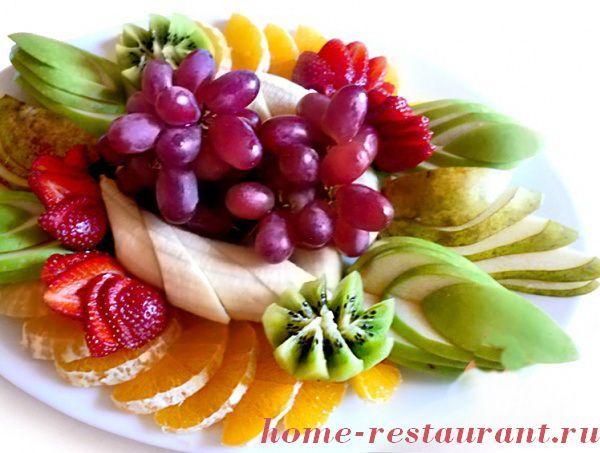 красивая нарезка фруктов фото