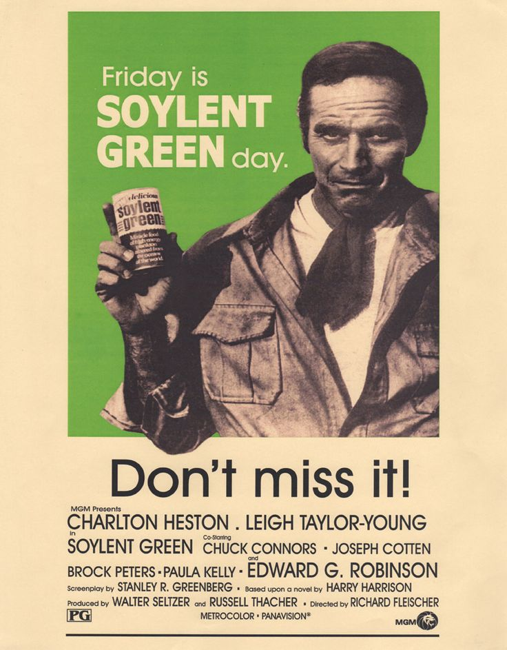 "134. Soylent Green 11"" x 14"" promotional card."