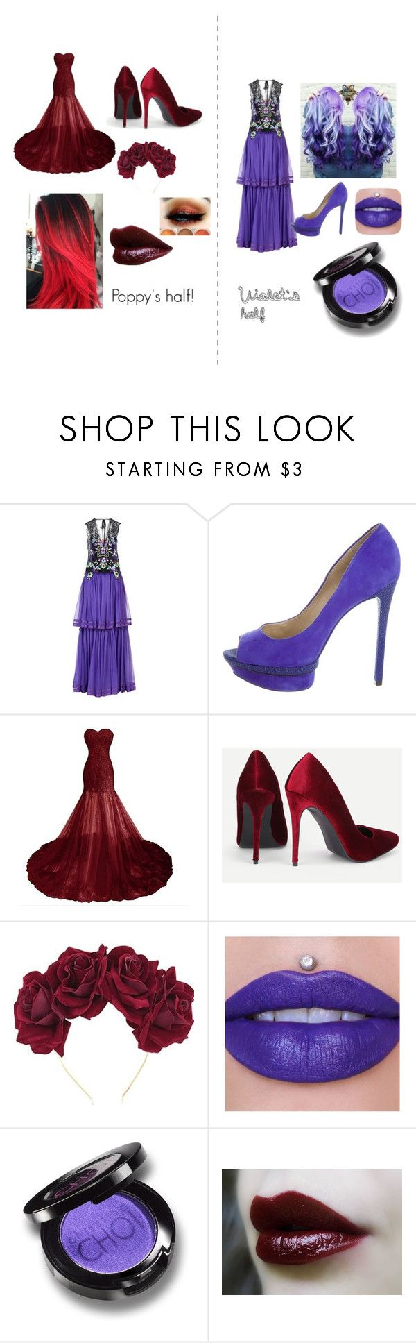 """""""Untitled #76"""" by property-of-dun on Polyvore featuring Alberta Ferretti, B Brian Atwood, Lulu in the Sky, Jeffree Star and Christina Choi Cosmetics"""