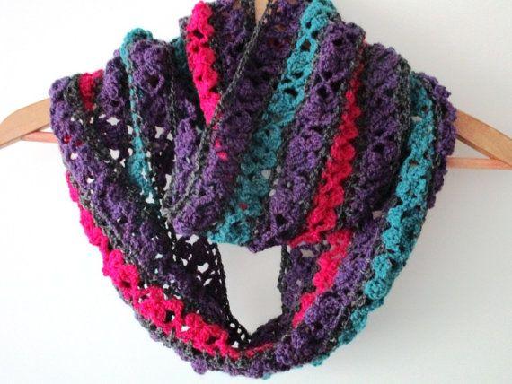 Infinity scarf Crochet patternFlower crochet by BlageCrochetDesign