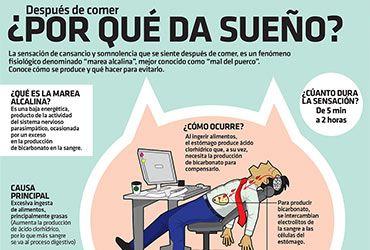 """<p>La sensación de cansancio y somnolencia que se siente después de comer, es un fenómeno fisiológico denominado """"marea alcalina"""" o """"mal del puerco"""".</p>"""