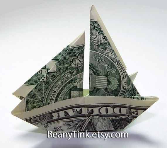 Sailboat dollar origami!