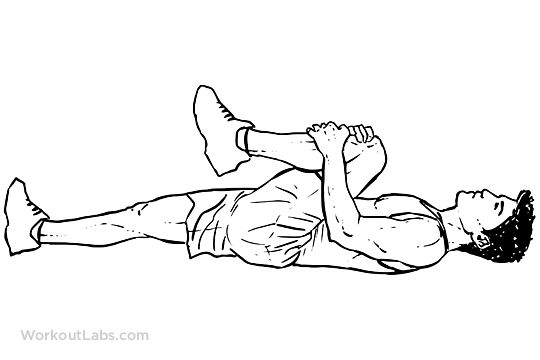 Knee-to-Chest Lower Back Stretch