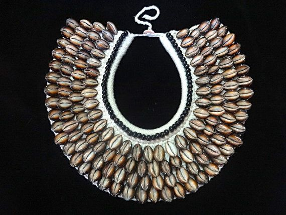 Christmas gift idea Shell Necklace Tribal Home by ubudexotica