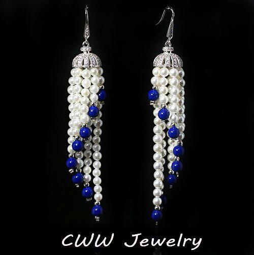 Купить товарОборванных кисточка форма белый позолоченный CZ алмазная вымощают долго люстра жемчужные серьги украшения для женщин свадебные ну вечеринку в категории Висячие серьгина AliExpress. Elegant Chandelier Shape AAA+ Cubic Zirconia Diamond Long Big Crystal Bridal Earrings For Wedding Jewelry (CZ202)USD 8.6