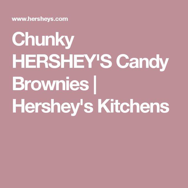 Chunky HERSHEY'S Candy Brownies | Hershey's Kitchens