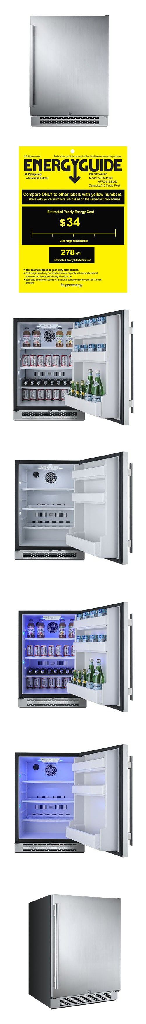 "Avallon 5.5 Cu Ft Built-In 24"" Refrigerator - Right Hinge"