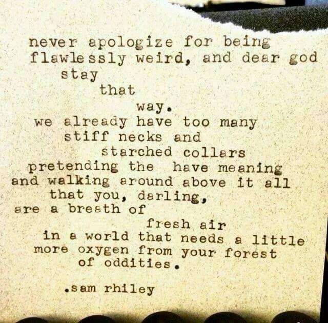 you are fresh air
