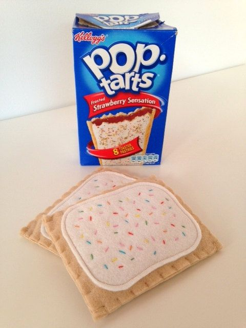 Felt pop tarts - inspiration - what a great way to package/present these, LOL!  Item is f/s on Etsy.