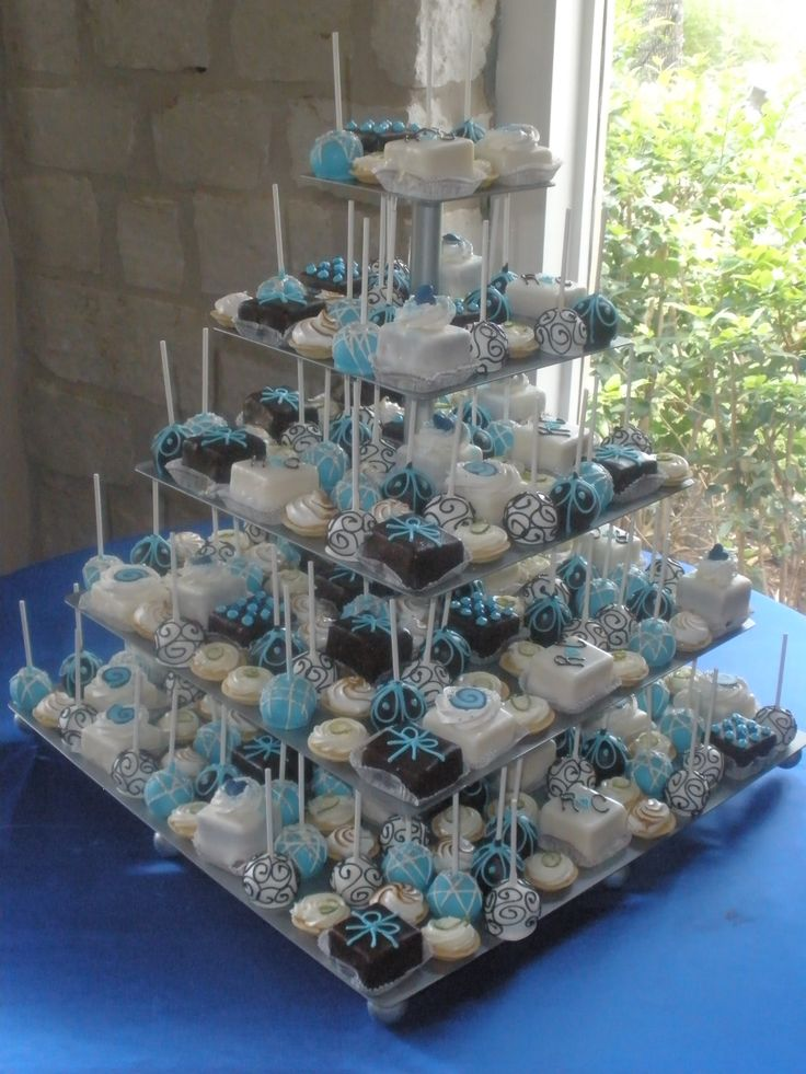 Petit Four And Cake Pop Tower Our Big Day Wedding