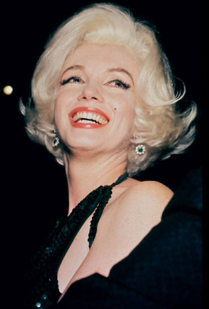 Marilyn Monroe winning a Golden Globe in the last year of her life.