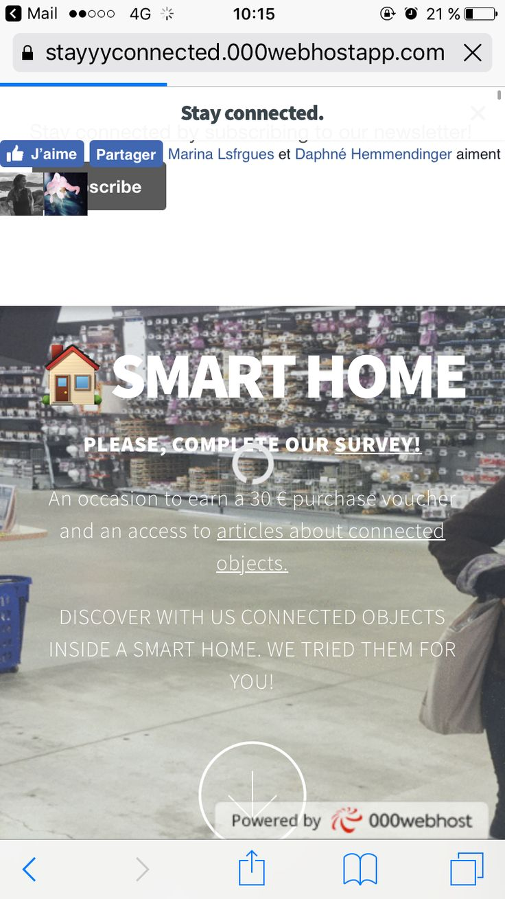Please visit our website >>> https://stayyyconnected.000webhostapp.com/SITE%20WEB%202/SITE%20WEB%202/index.html  #smarthome #connected #objects #student #webmarketing