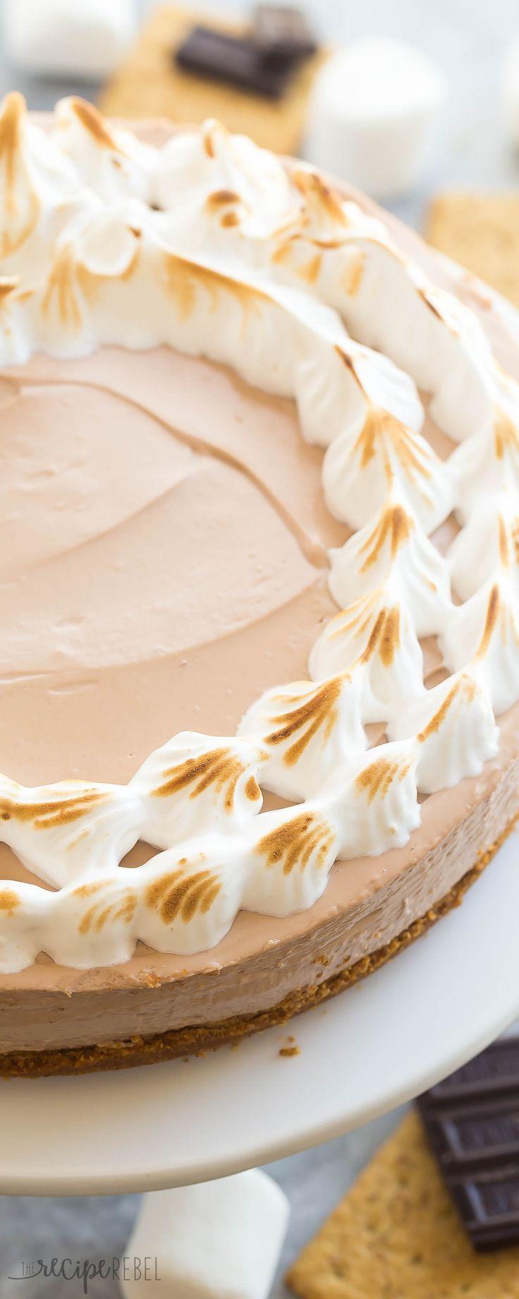 No bake cheesecake, Best cheesecake and Marshmallow cheesecake on ...