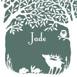 Geboortekaartjes van Geertje Aalders bij Lief Leuk & Eigen - Jade, drieluik