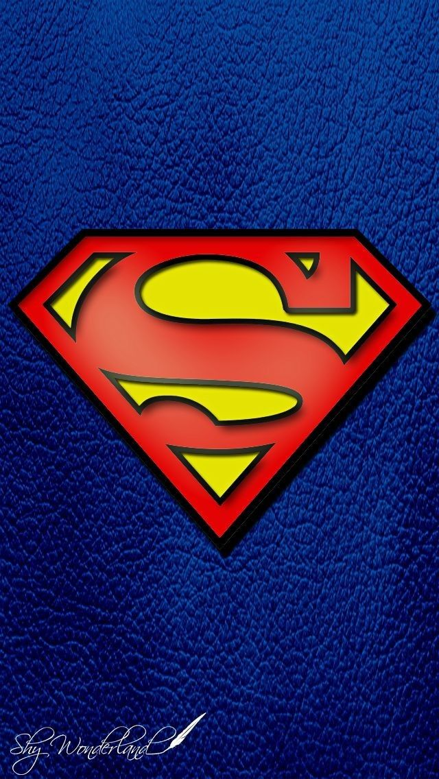 Superman Logo Over Blue Bg Phone Wallpaper Background Lockscreen Superman Pictures Superman Logo Superman Wallpaper