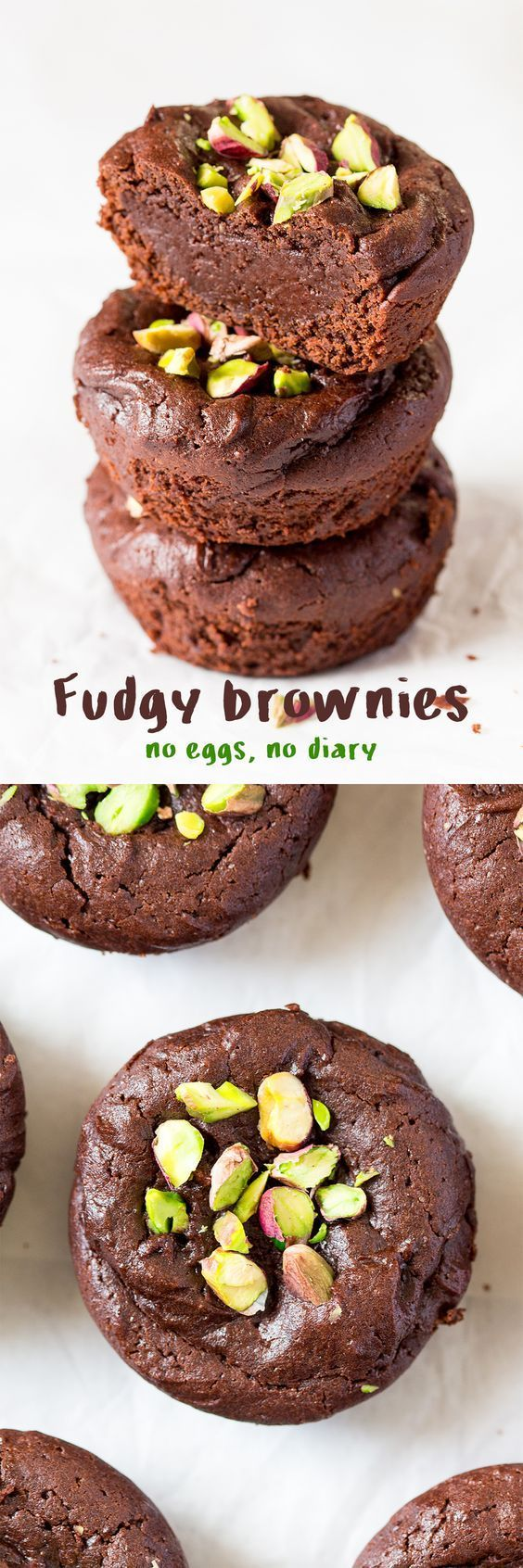 These fudgey brownies are easy and quick to make. They're are vegan but you would have never guessed.
