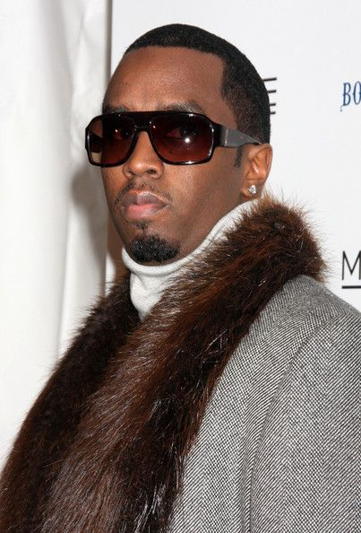 Sean Combs topped off his dramatic ensemble with a pair of rectangular sunglasses at the 'Cadillac Records' premiere.