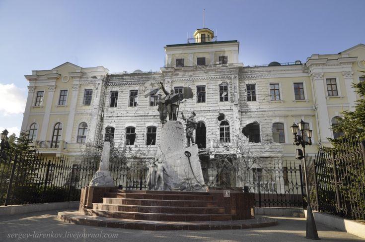Новороссийск 1943-2014 Советский Военно-морской флаг у памятника Памятника Ленину
