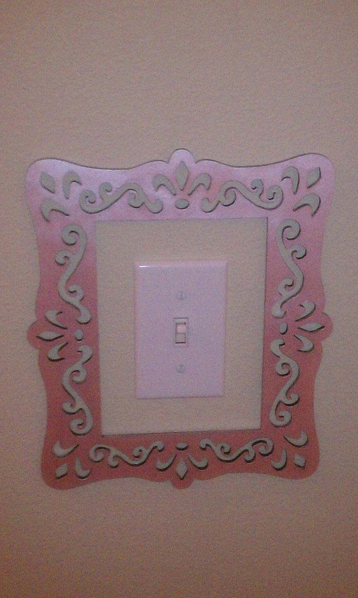 Unfinished wood picture frames craft - Super Cute And Easy Light Switch Frame Laser Cut Unfinished Wood Frame From