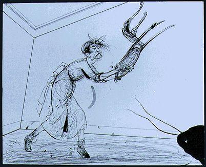 La metamorfosis Franz Kafka. ilustraciones de Luis Scafati. Sus piernas, se agitaban indefensas ante sus ojos.