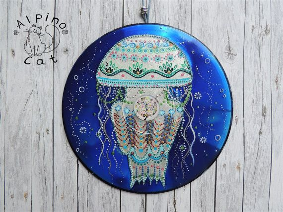 Jellyfish decor, sea decor, sea ornament, whimsical jellyfish, underwater world…