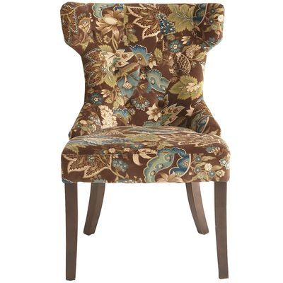 Hourglass dining chair peacock floral teal decor pinterest floral peacocks and dining - Pier one peacock chair ...