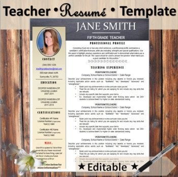 This resume is designed with the conservative teacher in mind. It features a black and khaki color template with a small tribal arrow design for just the slightest pop of flair (which you may also remove if you choose to). In the corner, you can choose to stand out but adding your