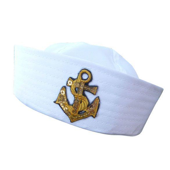 Volwassen wit fancy dress sailor marine doughboy cap hoed kostuum accessoires in  vriendelijke mededeling:onze Chinese Nieuwjaar komt.wij nemen vakantie van Jan 25th tot Februari 1th, de post officier  van hoeden en petten op AliExpress.com   Alibaba Groep