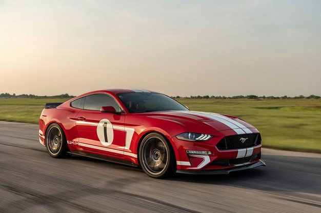 Hennessy S Heritage Edition Mustang Is An 808hp Retro Styled Pony Beast Machine Ford Mustang Gt Hennessey Ford Mustang