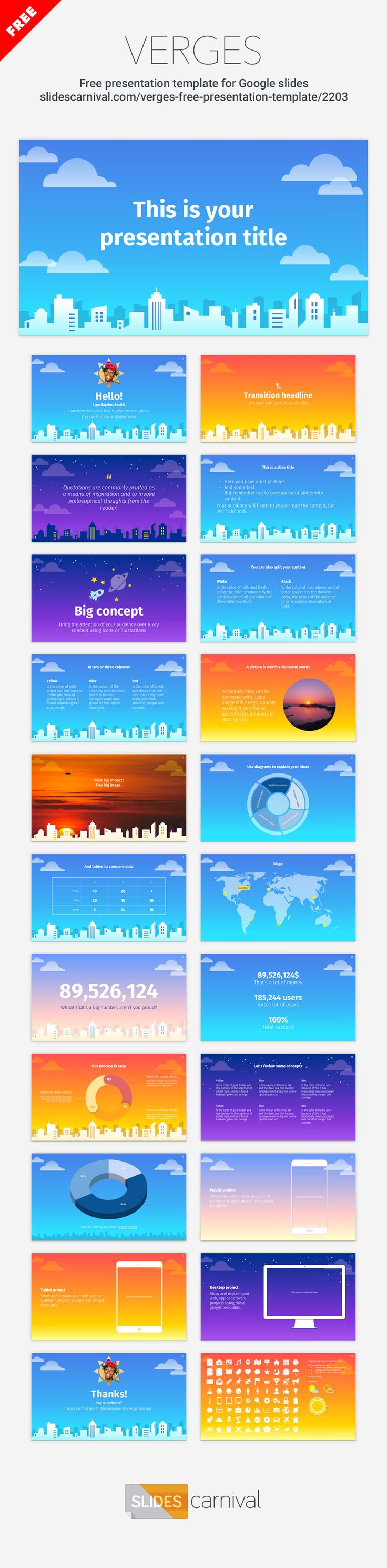 84 best free presentation templates images on pinterest for Boring but big template