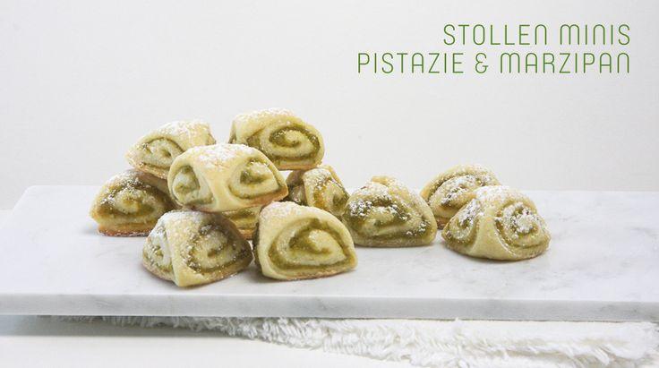 Stollen Minis Marzipan und Pistazie Rezept