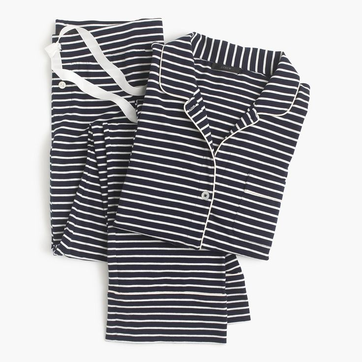 Shop the Dreamy Cotton Pajama Set In Stripe at JCrew.com and see our entire selection of Women's Pajamas & Sleepwear.