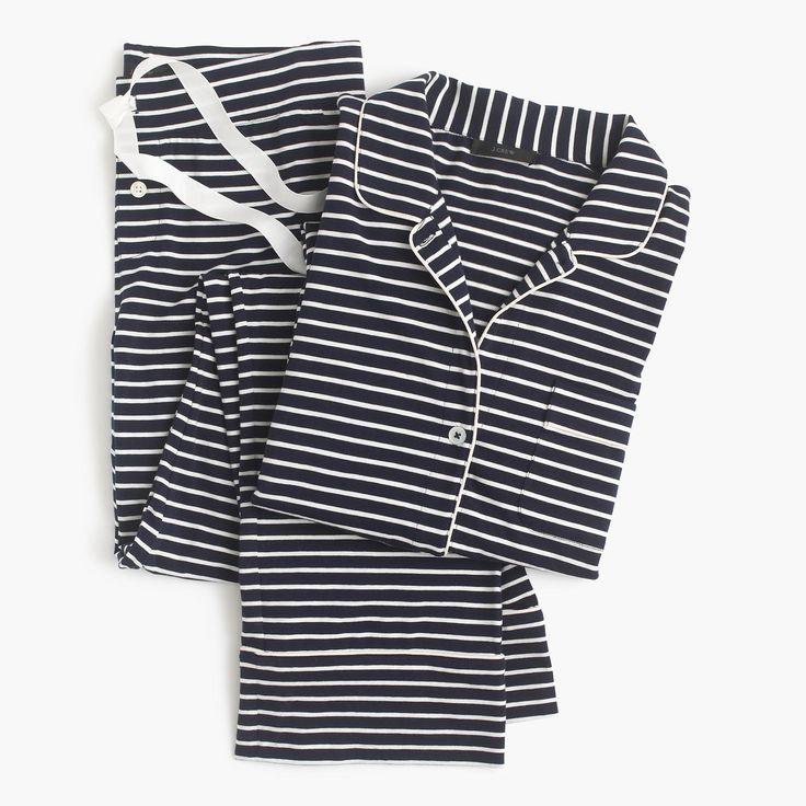 Dreamy Cotton Pajama Set In Stripe : Women's Pajamas & Sleepwear | J.Crew
