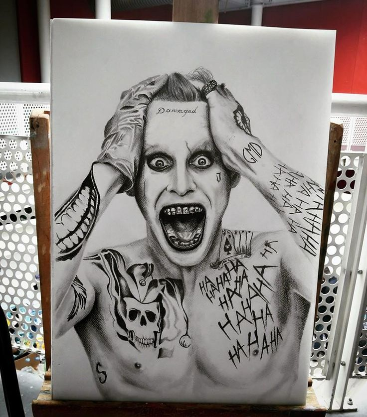 Joker ( Jared Leto) Portait by GMD Art   #joker #jared #leto #jaredleto…