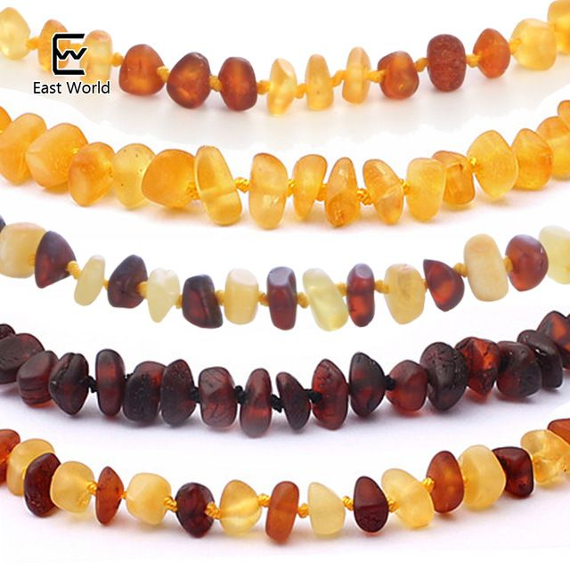 Better Price $6.13, Buy EAST WORLD 16 Colors Amber Teething Bracelet/Necklace for Baby Adult Lab Tested Authentic 8 Sizes Natural Amber Women Jewelry