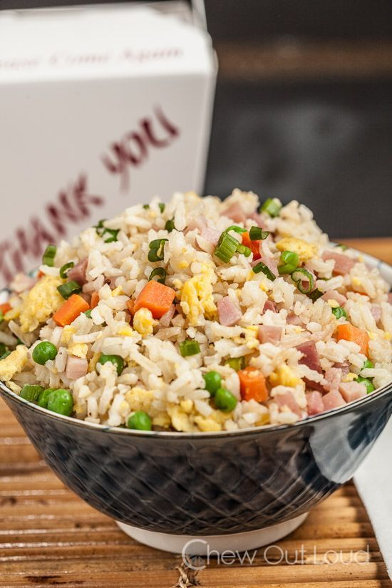 Chinese Fried Rice - Tastes way better than takeout, healthier, and easy.