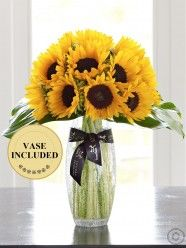 Luxury Sunflower Vase