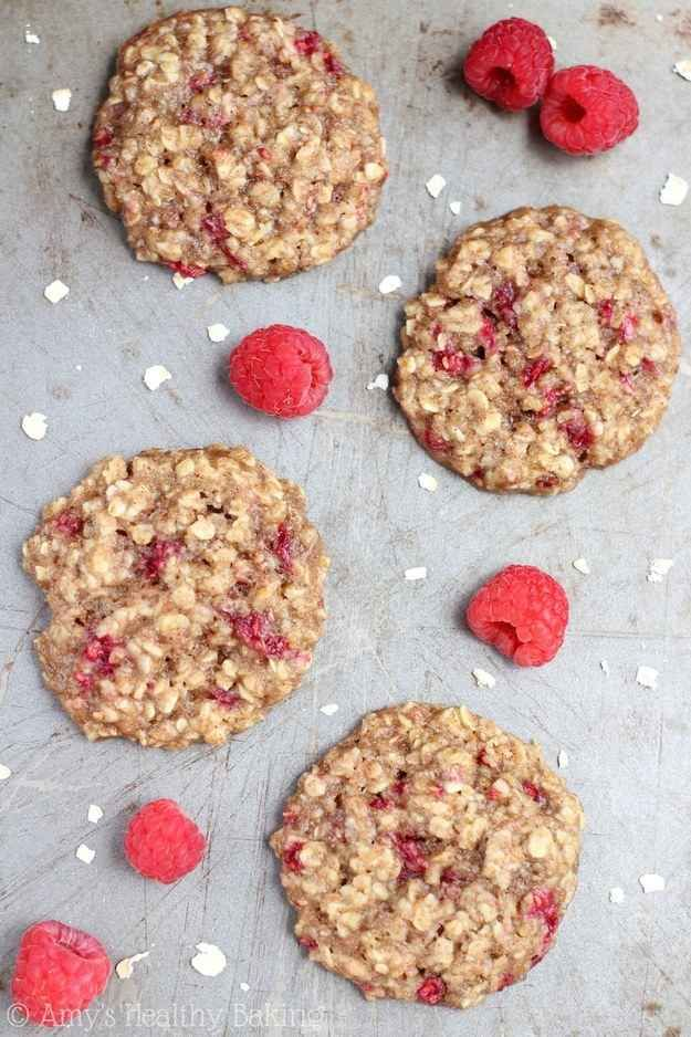 Raspberry Oatmeal Cookies | 21 Healthier Snacks Your Kids Will Actually Want To Eat