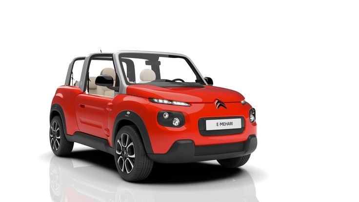 [REVEAL] #Citroën #EMEHARI: cheery, all-electric 4-seater cabriolet. A car which stands as a free spirit!