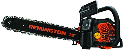 Remington RM5520R Rodeo Pro 55cc 2-Cycle 20-Inch Gas Chainsaw  This powerful gas chainsaw is ideal for limbing, cutting firewood, and cleaning up trees after a storm 55cc 2-cycle engine with 20-inch low-kickback bar and chain  for reliable starts in all conditions, equipped with QuickStart technology makeing pull starts easier Front and back anti-vibration handles for comfortable operation...