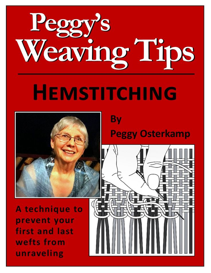Hemstitching on the loom I have just published my most popular tip as a Kindle booklet: Peggy's Weaving Tips: Hemstitching! It is an enhanced version of the tip plus a gallery of hemstitching…
