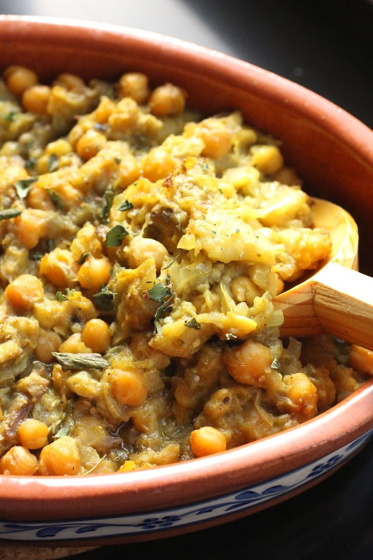 Aubergine et pois chiches au four - Chickpeas and eggplant