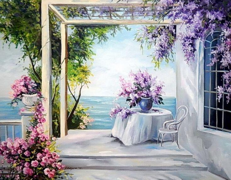 cuadros-de-paisajes-con-flores+(7).jpg (1579×1231)